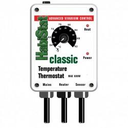 HabiStat Temperature Thermostat 600 Watt Black termosztát fűtőlapokhoz, kábelekhez