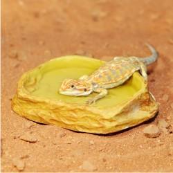 HabiStat Sandstone Water Dish Medium természethű homokkő hatású itatótál