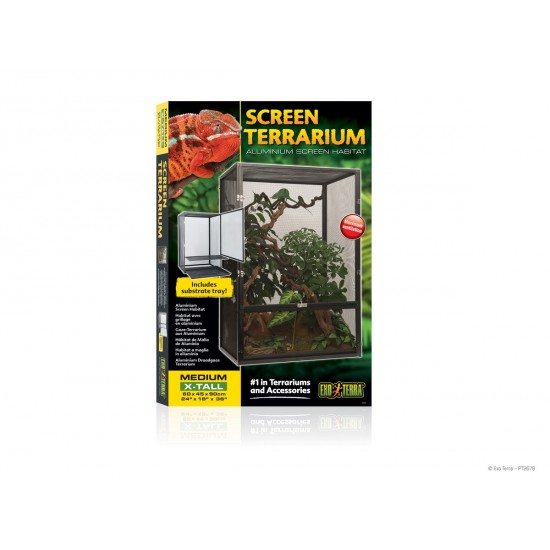 ExoTerra Screen Terrarium Medium/X-Tall - 60x45x90 cm alumínium hálós terrárium
