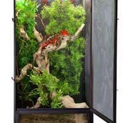 Zoomed Reptibreeze Aluminium Screen Cage 41x41x76 cm fémhálós terrárium