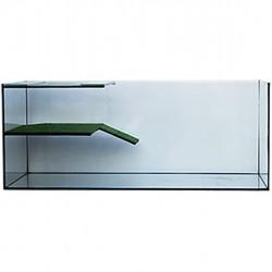 Víziteknős akvaterrárium műfüves napozóval L méret