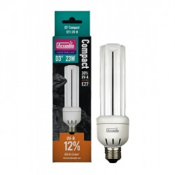 Arcadia D3+ 12% 23w Compact Reptile Lamp UVB kompakt fénycső