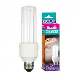 Arcadia D3+ 10% (10.0) 23w Compact Reptile Lamp UVB kompakt égő